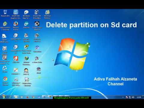 How To Delete Partition on  SD Card | Mengembalikan SD Card dari Partisi