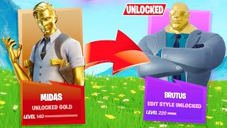 UNLOCKING GOLD BRUTUS! Level 140+! (Fortnite Chapter 2, Season 2)