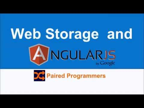 Web Storage and AngularJS