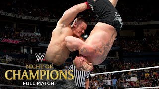 FULL MATCH - Brock Lesnar vs. John Cena - WWE World Heavyweight Title Match: Night of Champions
