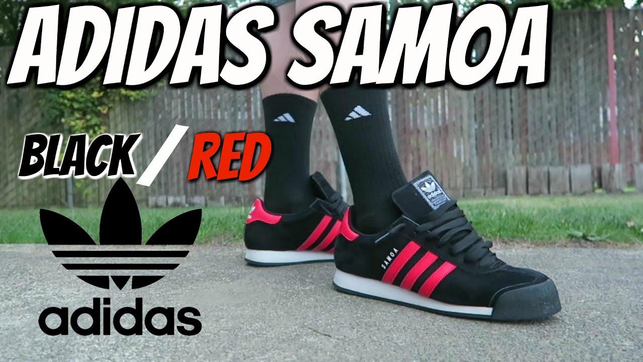 ADIDAS SAMOA - BLACK/RED - YouTube