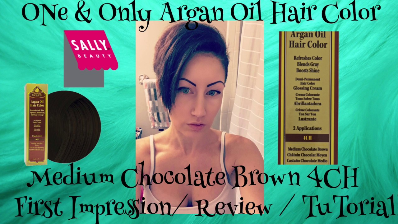 One Only Argan Oil Hair Color Medium Chocolate Brown 4ch Tutorial