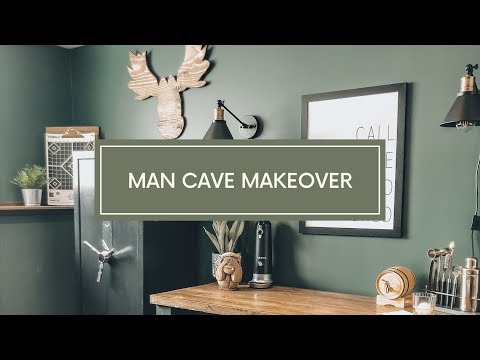 Man Cave Makeover // Transforming My Husbands Home Office