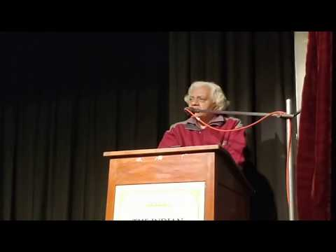 Dr. S. Ranganath lecture on Universal Peace in Mahabharatha