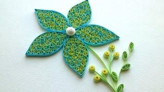 Quilling Tutorial: Quilling flowers tutorial. Quilling art. Quilling flowers design.