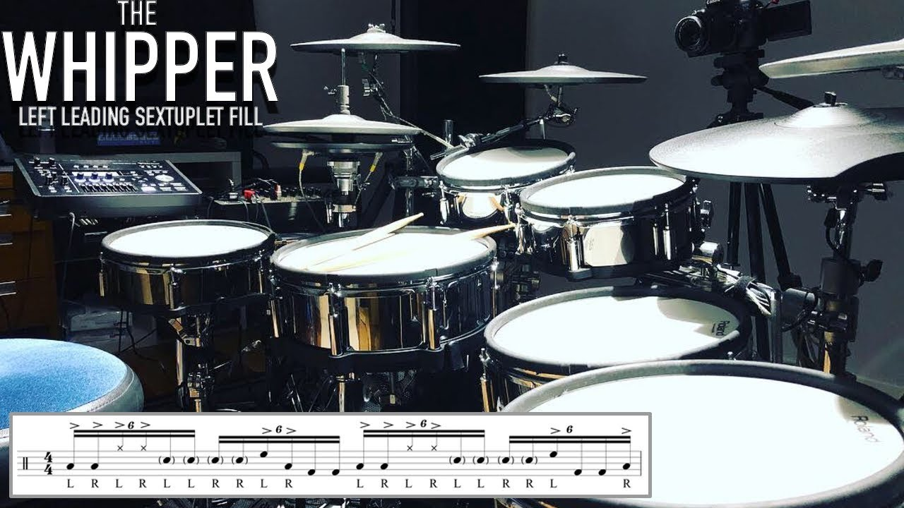 Download The Whipper - Left Leading Sextuplet Chop/Fill - Drum Lesson By Nick Bukey