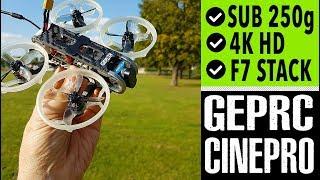 GEPRC CinePro 4K HD full review // Flight Footage // Sub 250g Cinewhoop