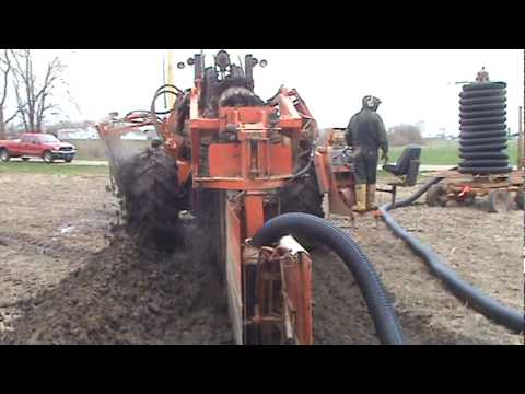 How Drain Field Tile Is Installed Maizevalley Com Youtube