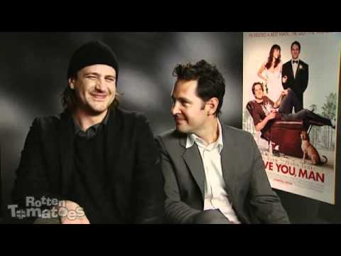 Paul Rudd and Jason Segel being interviewed whilst completely stoned