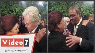 حسين فهمى و الفيشاوى و نرمين الفقى و علا رامى ونجوى فؤادفى عزاء حسن مختار