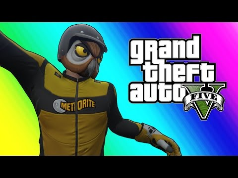 GTA 5 Online Funny Moments - No Gravity Flying Glitch!