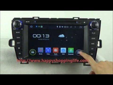 Toyota Prius 2009-2013 Android Car DVD Player GPS Navigation Radio TV Wifi 3G