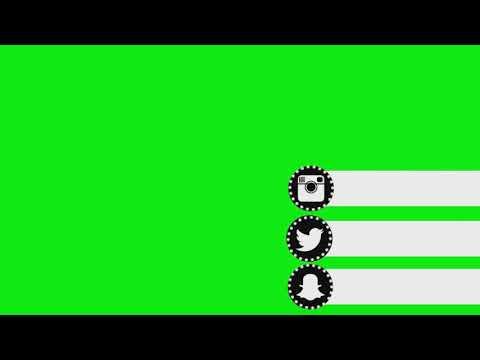 Top 10 Green Screen Animated Social media