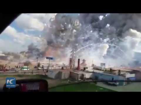 Mexico City Fireworks Market Explodes, Injuring Dozens