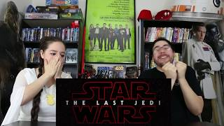 Star Wars THE LAST JEDI - Official Teaser Trailer Reaction / Review