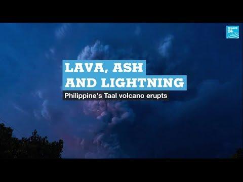 Lava, ash and