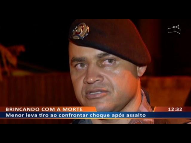 DF ALERTA - Menor leva tiro ao confrontar Choque após assalto