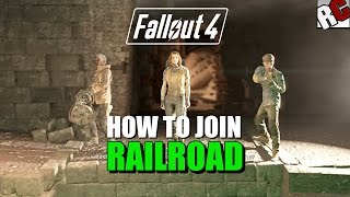Fallout 4 - How to Join the Railroad - Road to Freedom Quest Guide Railroad Achievement