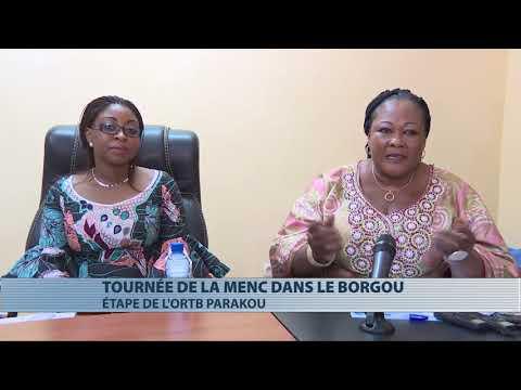 Aurélie Adam Soulé Zoumarou au contact du personnel de la direction régionale de l'ORTB Parakou