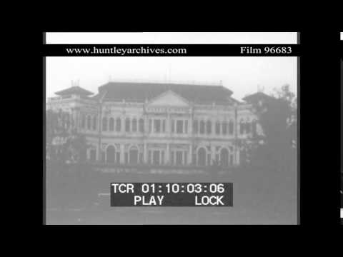 The Raffles Hotel in Singapore in 1930.  Archive film 96683