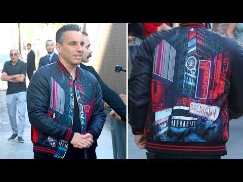Comedian Sebastian Maniscalco Rocks Swanky Balmain Jacket At Jimmy Kimmel  Live