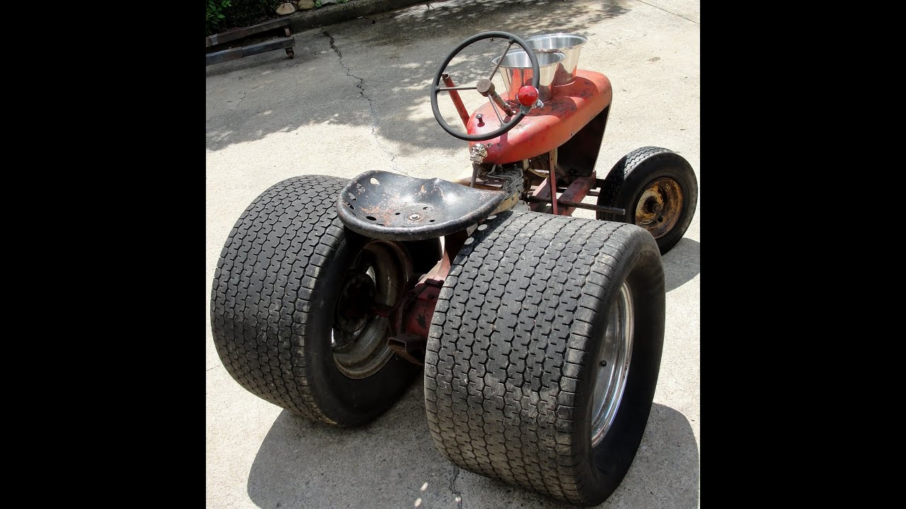 "NASTY HOT RAT ROD ""WHEEL HORSE"" TRACTOR 10"" CRAGARS FAT ..."
