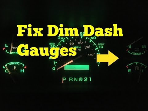 FIX IT /  Dash Light Bulbs Out F150