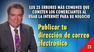 Error 25 - Publicar Tu Dirección De Correo Electrónico