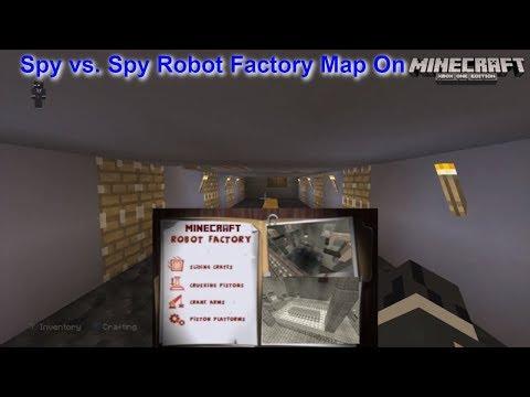 Minecraft Xbox - Spy vs. Spy Robot Factory Map Tour!