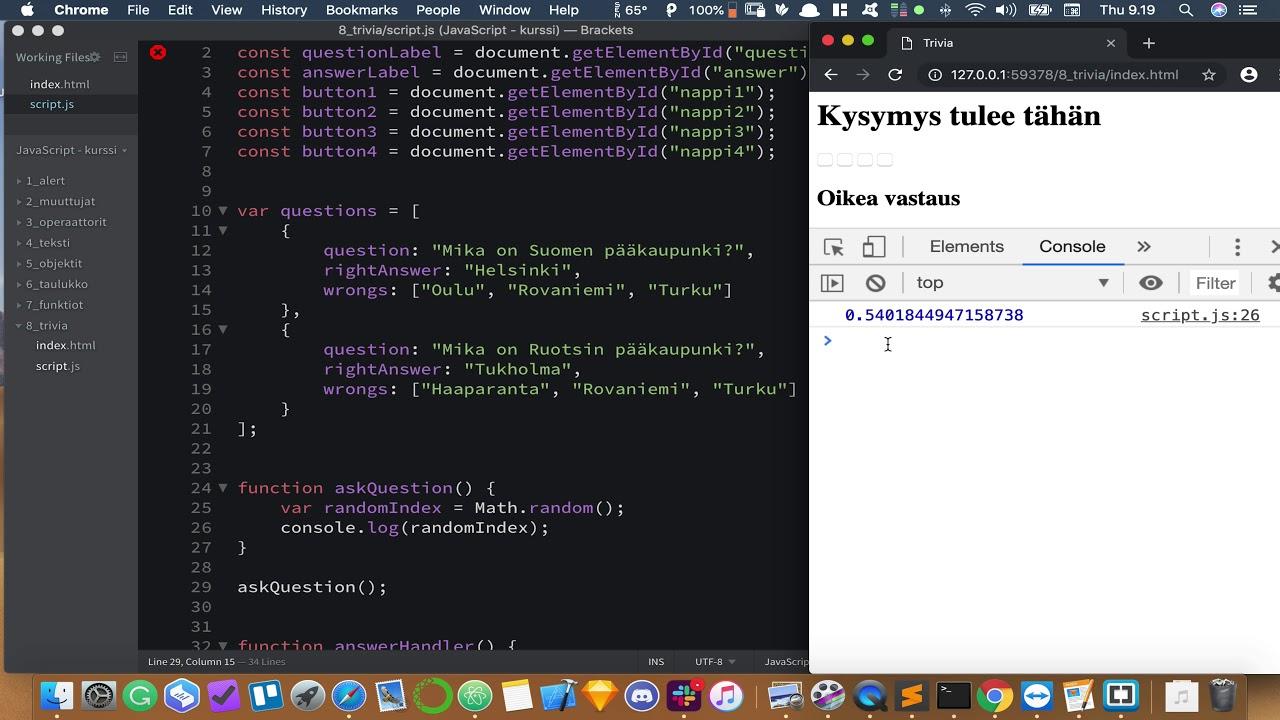 Javascript Ohjelmointi