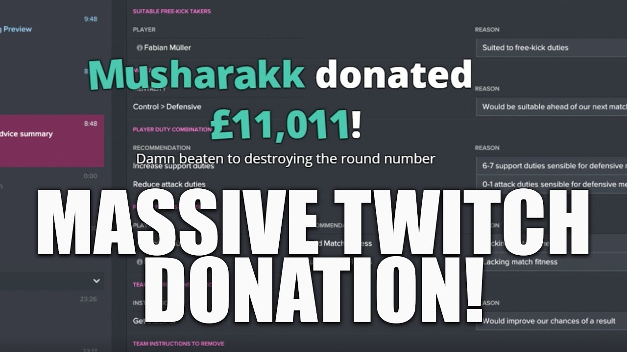 MASSIVE TWITCH DONATION! Reaction to the £11,000 Twitch