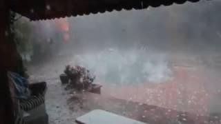 Incredible video of Oklahoma City Hail Storm