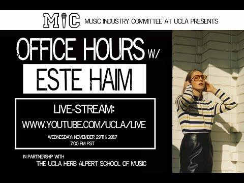 Office Hours w/ ESTE HAIM