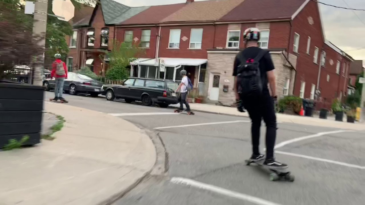Boosted Boards Group ride featuring the new NEW Rev Scooter