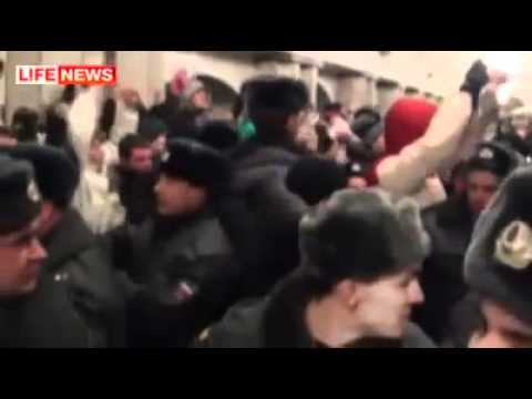 Mass beatings of migrants in Russia after the murder of Russian boy 11.12.2010