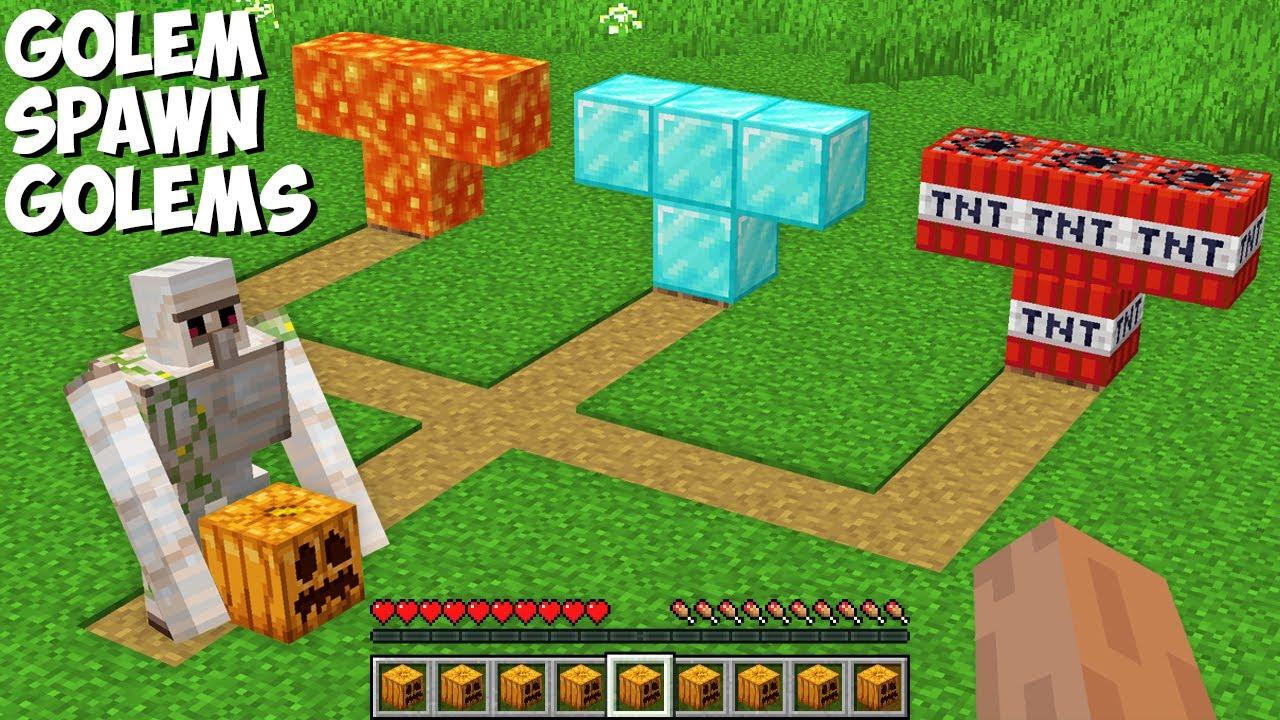 Which GOLEM the IRON GOLEM WILL SPAWN in Minecraft ? CHOOSE SUPER GOLEM !
