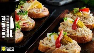 Chlebíčky s rybí pomazánkou - Roman Paulus - Kulinářská Akademie Lidlu