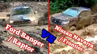 Ford Ranger / Raptor Vs Nissan Navara / Frontier 4x4 Extreme Off-road, Mudding, and River Crossing