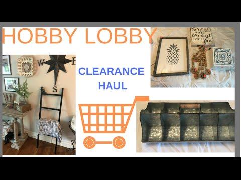 HOBBY LOBBY CLEARANCE HAUL // 75% OFF HOBBY LOBBY CLEARANCE // MAY 2019// FARMHOUSE DECOR HAUL