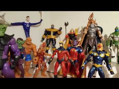 Marvel Legends Fantastic Four and Cosmic Display