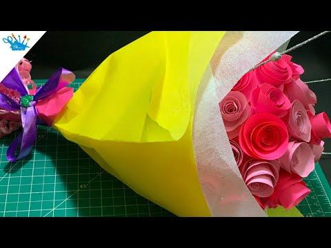 DIY Paper Flower Bouquet | Paper Flower Bouquet Making Ideas | Creative
