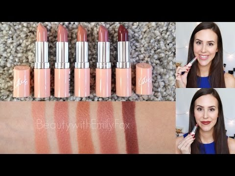 Rimmel Lasting Finish Nude Lipstick Collection 2015 + Lip Swatches