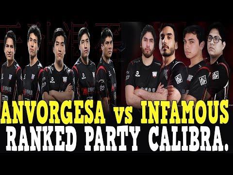 HISTORICO!! ANVORGESA vs INFAMOUS  - RANKED PARTY CALIBRACION - DOTA 2