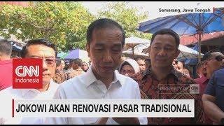 Blusukan Pasar, Jokowi Akan Renovasi Seluruh Pasar Tradisional