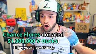 Donating 1 Million V-Bucks to Ali-A!
