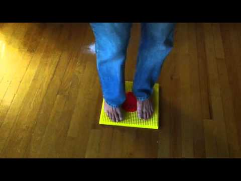 Relaxing With Acupressure Fitness Mat