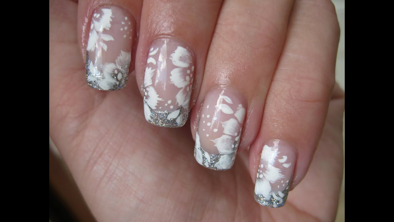 Nail Art: Elegant bridal design - YouTube