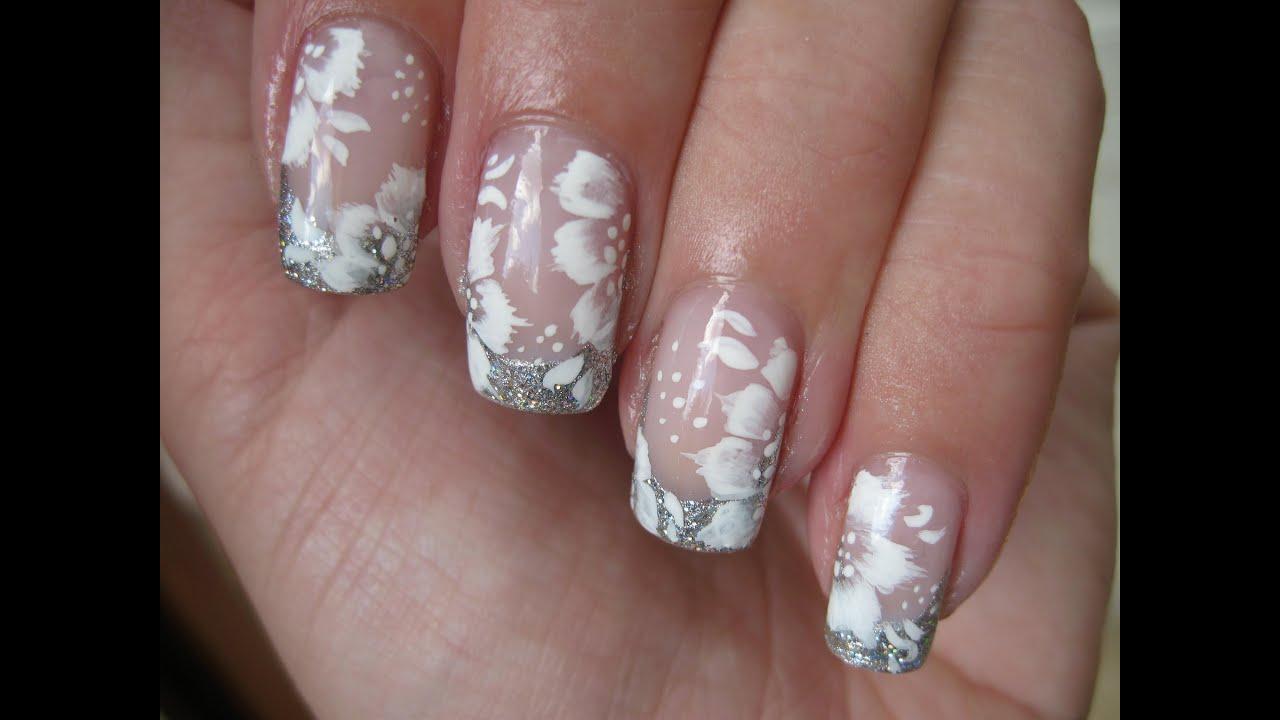 nail art elegant bridal design