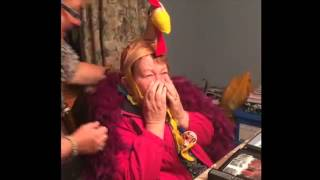 grandma s priceless reaction to macy s parade birthday gift