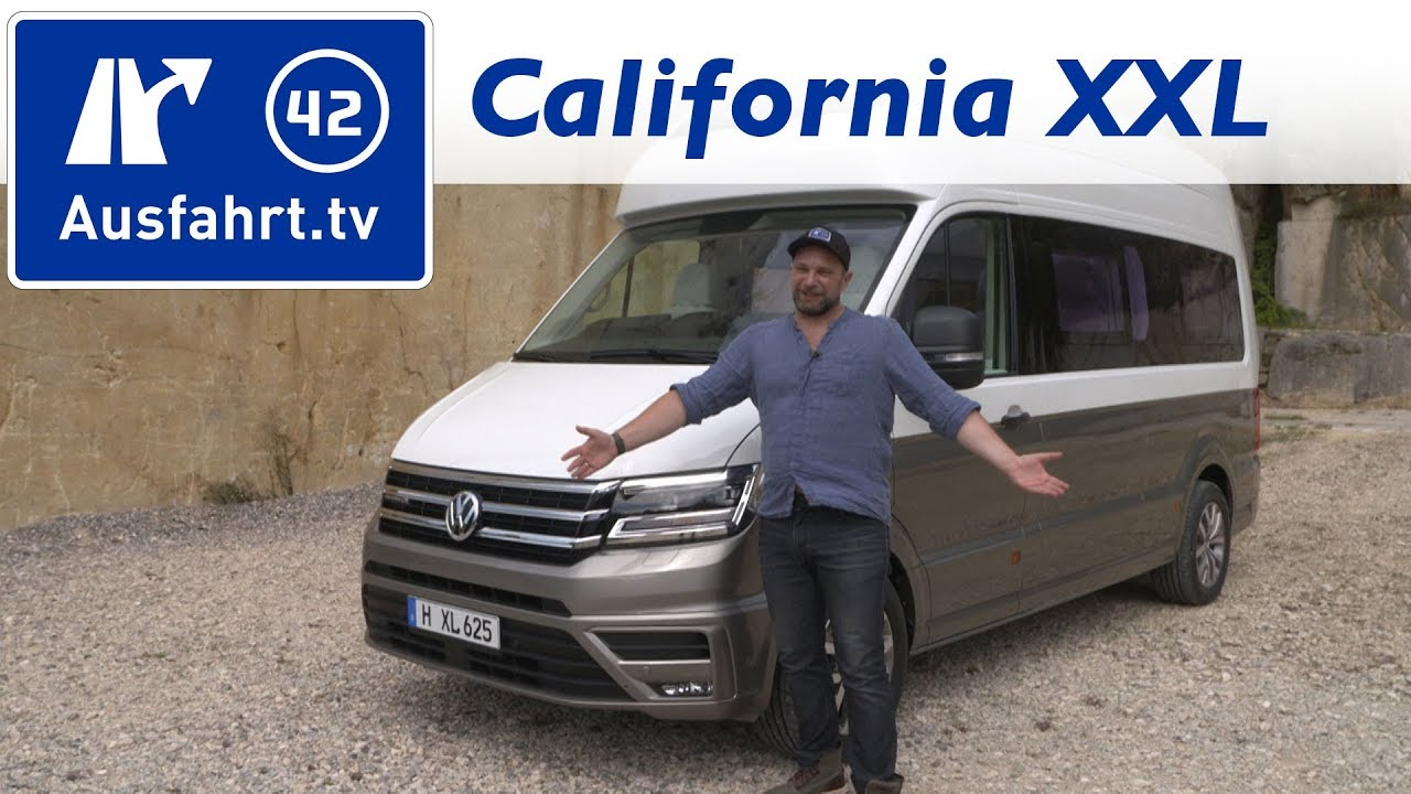 2017 vw california xxl was kann der neue crafter camper. Black Bedroom Furniture Sets. Home Design Ideas